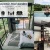 Panoramic pool garden