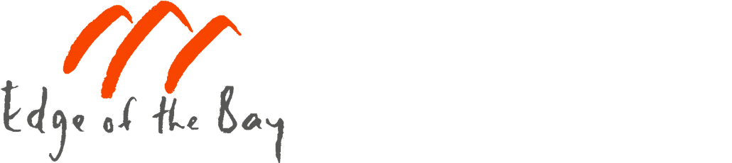 Edge of the bay logo long
