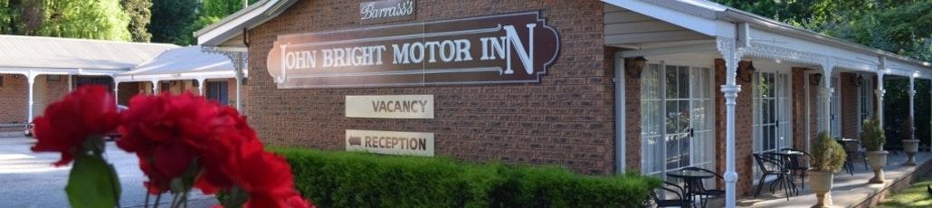 Motel accommodation in bright victoria barrass's john bright motor inn banner low res