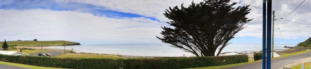 the beach panorama