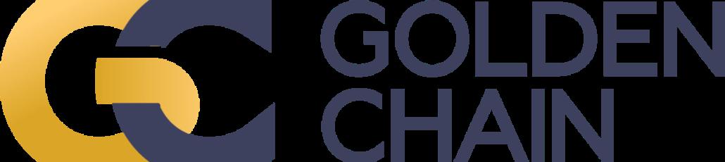 Goldenchain gradient horizontal primary logo