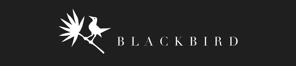 Blackbird banner black and white